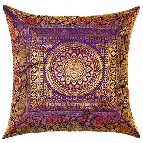 Silk Decorative Pillows by Purple Medallion Circle Decorative Outdoor Indoor Silk