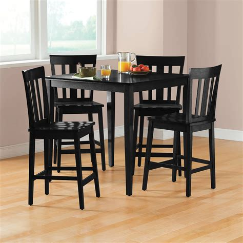 Walmart Black Dining Room Chairs by Kitchen Amp Dining Furniture Walmart With Black Dining Room