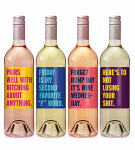 cheer up wine label set funny wine labels personalized With hilarious wine labels