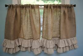 1000  ideas about Burlap Kitchen Curtains on Pinterest   Farm kitchen      Burlap Curtains Pinterest