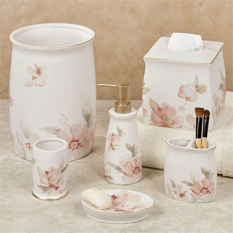 Misty Floral Ceramic Bath Accessories