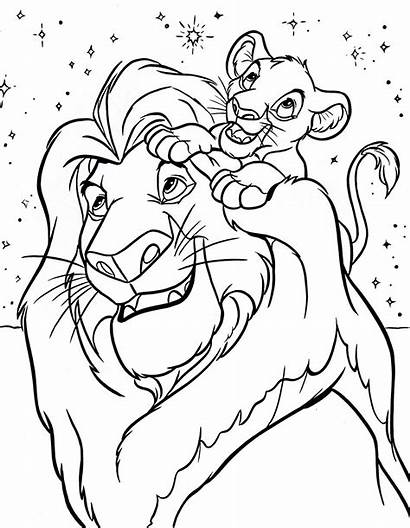 Lion Coloring King Pages Printable