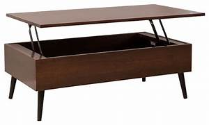 caleb brown wood lift top storage coffee table With mid century lift top coffee table