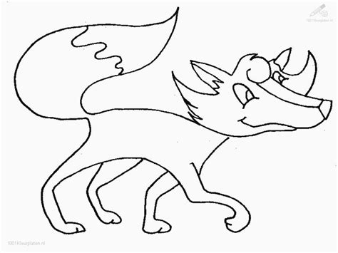 Baby Vos Kleurplaat by Arctic Fox Coloring Pages Coloring Home