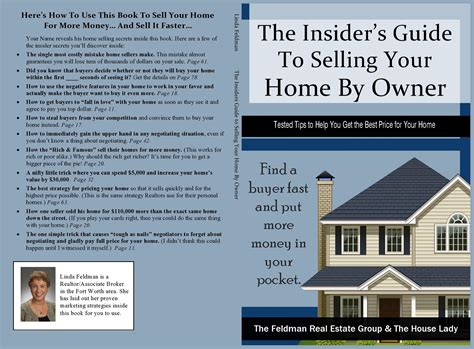 guide to selling your home the insider s guide to selling your home by owner by linda feldman 12 97 thebookpatch com