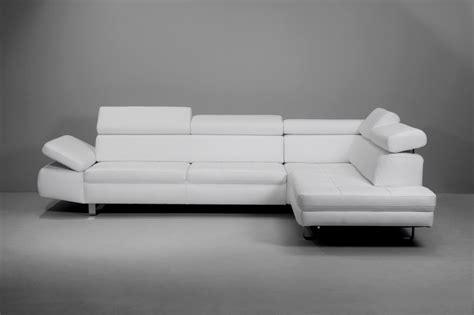 canape cuir blanc angle canapé d 39 angle 5 places bandibandi cuir blanc ou autres