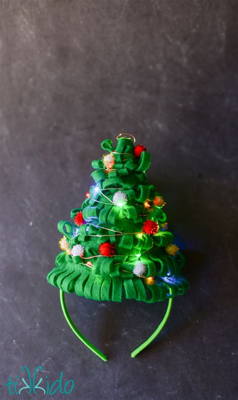 christmas tree hat tutorial   ugly sweater party