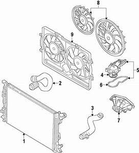 Audi A4 Engine Coolant Thermostat Kit  3 2 Liter  3 2
