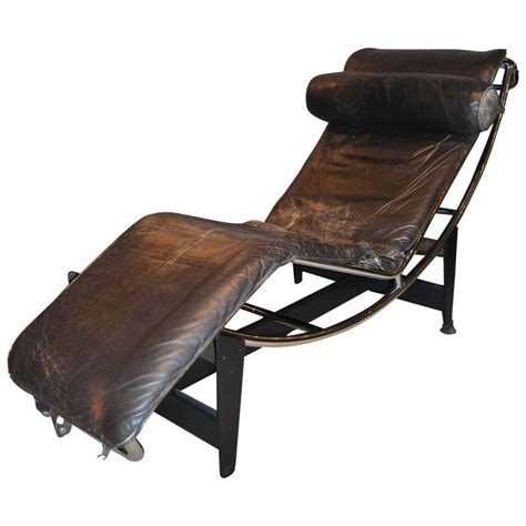 early le corbusier jeanneret perriand lc4 chaise lounge for sale at 1stdibs