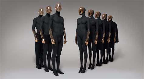 mannequin de vitrine femme mannequins abstract collection black copper hans boodt mannequins