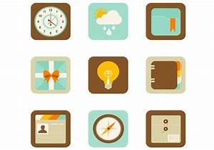 Flat Web and Mobile App PSD Icons - Free Photoshop Brushes ...