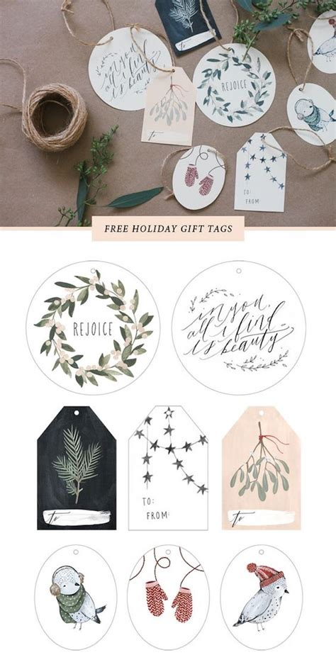 christmas gift tag creative gift wrap ideas and printables