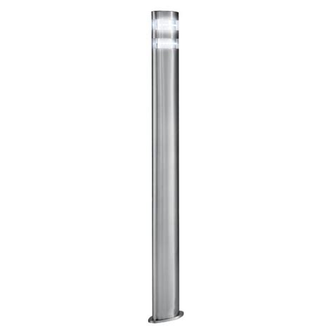 outdoor led garden l post light modern satin silver ip44