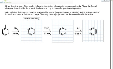 Solved Draw The Structure Of The Product In Each Step In