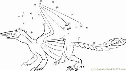 Dragon Connect Dots False Dot Coloring Pages
