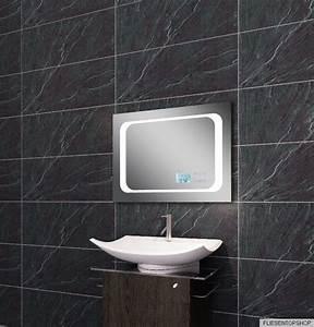 Spiegel Mit Aluminiumrahmen : licht spiegel led beleuchtung uhr radio mp3 und touch schalter 70x50cm ltm7050 ebay ~ Sanjose-hotels-ca.com Haus und Dekorationen