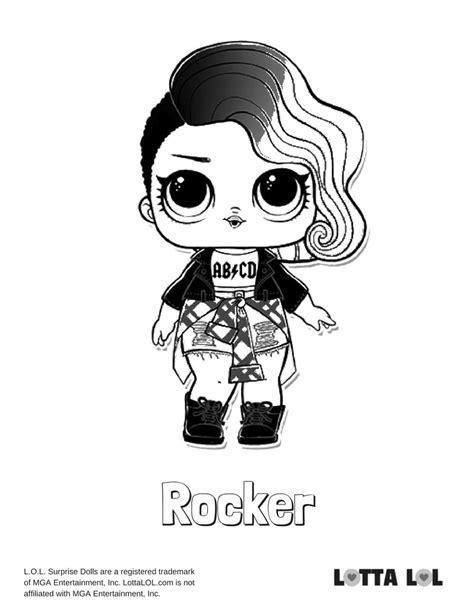 rocker lol surprise doll coloring page lotta lol