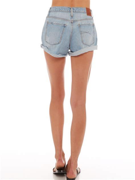 light blue jean shorts nobody denim skyline shorts in light blue denim