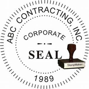 Corporate seal pocket embosser thestampmakercom for Common seal template