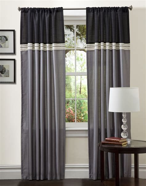 color block curtains creative ways to extend the length of your curtain panels