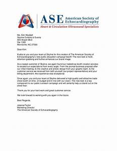 client letters of recommendation With thank you letter for visiting trade show booth