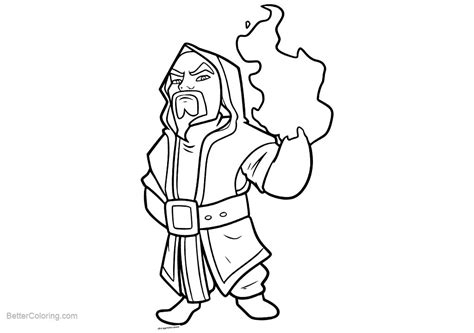 Clash Royale Kleurplaat Ijstovenaa by Clash Royale Coloring Pages Line Free Printable