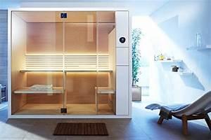 Kleine Sauna Fürs Badezimmer : ganz hei sauna inipi von duravit bild 2 sch ner ~ Lizthompson.info Haus und Dekorationen