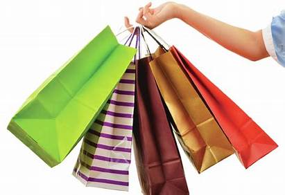 Shopping Bag Bags Holding Paper Clipart Female