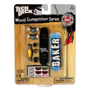 tech deck wood competition series baker skateboards ebay