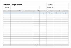 general ledger sheet template general ledger template With company bookkeeping templates