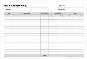 general ledger sheet template general ledger template With purchase ledger template