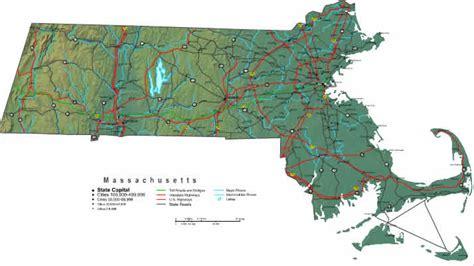 massachusetts map  maps  massachusetts state