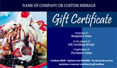 ice cream shop gift certificate templates easy