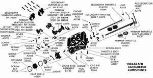 1963-65 Afb Carburetor Components - Diagram View
