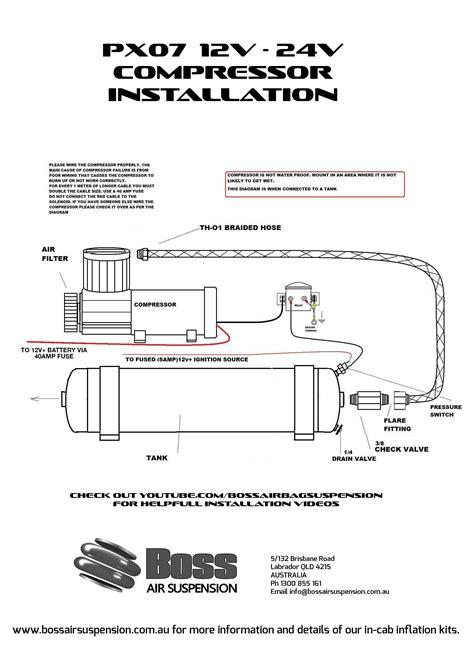 12 volt air compressor px07 bare boss air suspension shop