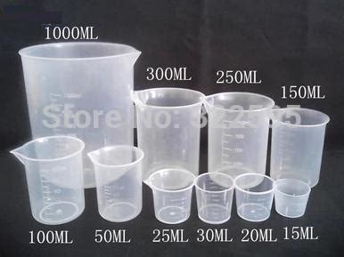 how much is 150 ml in cups 150ml plastiic beaker laboratory measuring cup no handle school educational supplies