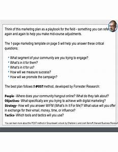 Sample Social Media Marketing Plan Free Download