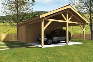 Garage Voiture En Bois : garage en bois sans permis de construire ~ Dallasstarsshop.com Idées de Décoration