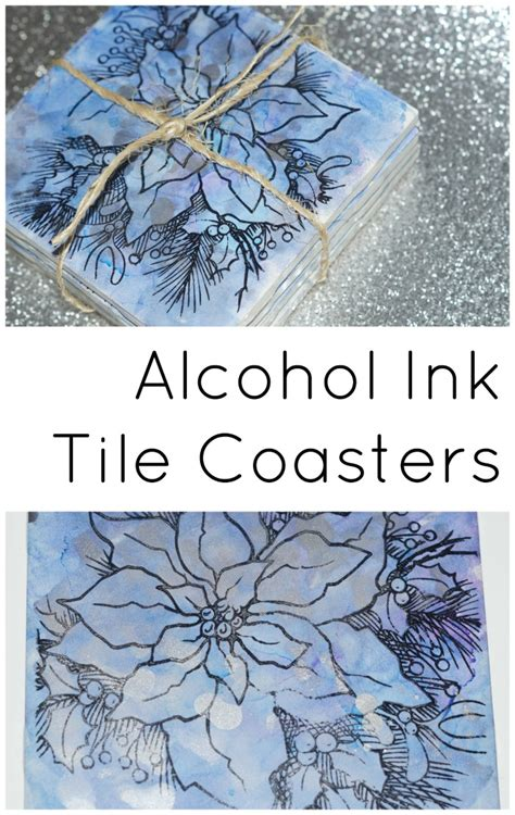 how to make easy and upcycled tile coasters