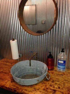 bucket sink rustic bathrooms barn bathroom rustic