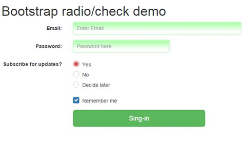 ways   bootstrap radio buttons   examples