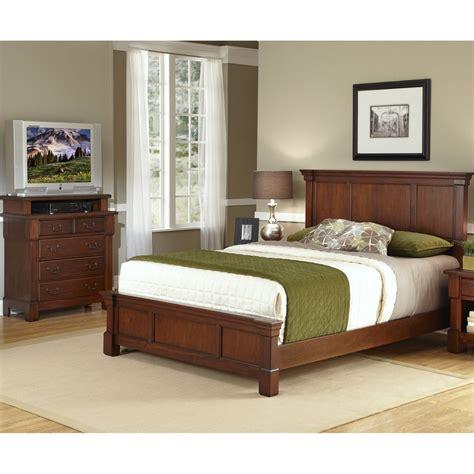 Aspen Bedroom Set by Shop Home Styles Aspen Rustic Cherry Bedroom Set At