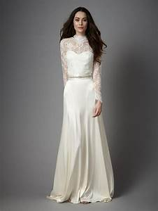 486 best long sleeved wedding dresses images on pinterest With long sleeve lace top wedding dress