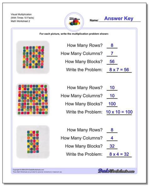 Visual Multiplication Worksheets