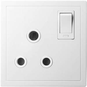 China 15a 1 Gang Switched Socket Outlet