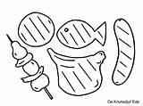 Bbq Kleurplaten Worstjes Kleurplaat Printen Unicorn Yoo Afkomstig Rs Dutchie sketch template