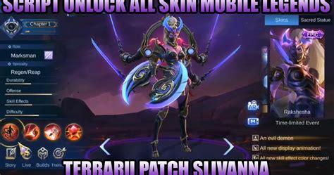 script unlock  skin mobile legends terbaru patch