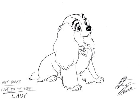 Lady And Tramp Coloring Pages - Eskayalitim