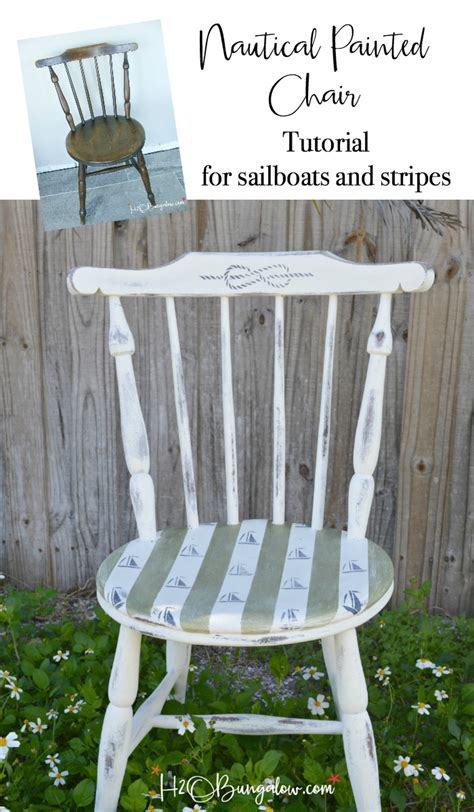 Sailboats And Stripes Diy Nautical Accent Chair H20bungalow