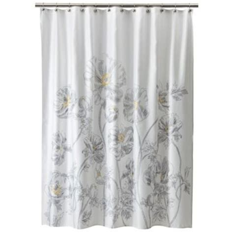 threshold floral shower curtain yellow n cameron ct